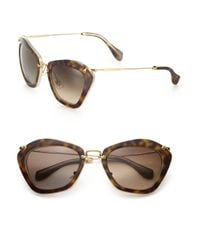 Miu Miu - Brown Noir Catwalk Cat Eye Sunglasses - Lyst