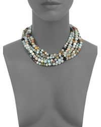 Kenneth Jay Lane - Multicolor Beaded Eight-strand Necklace - Lyst
