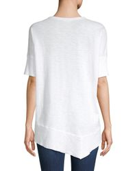 Wilt - White Asymmetric Cotton Tee - Lyst