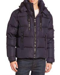 Sam. - Blue Quilted Goose Down Jacket for Men - Lyst