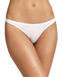 Skin - White Organic Pima Cotton Thong - Lyst
