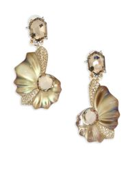 Alexis Bittar - Metallic Lucite Crystal Shell Clip-on Earrings - Lyst