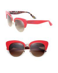 Dolce & Gabbana - Red Sicilian Carretto 52mm Acetate & Metal Cat's-eye Sunglasses - Lyst