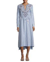 Tory Burch - Blue Adelle Tunic Dress - Lyst