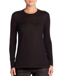 Akris - Black Cashmere Knit Sweater - Lyst