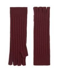 Saks Fifth Avenue Purple Collection Cashmere Fingerless Gloves