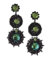 Erickson Beamon - Green Fantastic Voyage Drop Earrings - Lyst
