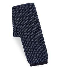 Polo Ralph Lauren - Blue Silk & Linen Knit Tie for Men - Lyst