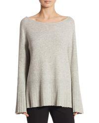 Elizabeth and James | Gray Clarette Boatneck Sweater | Lyst