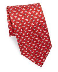 Ferragamo - Red Silk Elephant Ice Cream Tie for Men - Lyst