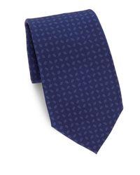 Ralph Lauren | Blue Printed Silk Tie for Men | Lyst