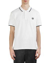 KENZO - White Tiger Crest Cotton Polo for Men - Lyst