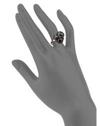 Pomellato | Black Blue Sapphires, Ceramic & 18k Rose Gold Ring | Lyst