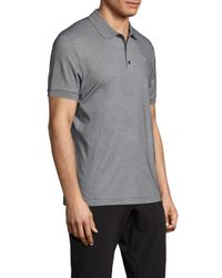 J.Lindeberg - Gray Martin Solid Polo for Men - Lyst