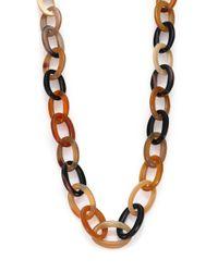 Nest - Brown Natural Horn Long Link Necklace - Lyst