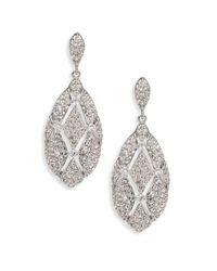 Adriana Orsini - Metallic Naga Pave Drop Earrings - Lyst