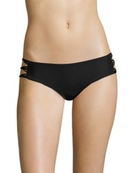 Mikoh Swimwear - Black Barcelona Skinny String Bikini Bottom - Lyst