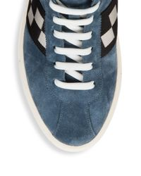 Bally - Blue Vita-parcours Retro Leather High-top Sneakers for Men - Lyst