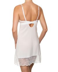 Addiction Nouvelle Lingerie - White Martini Lace-accented Babydoll - Lyst