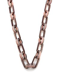 Lafayette 148 New York - Metallic Oval Link Chain Necklace - Lyst