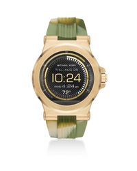 Michael Kors - Green Access Dylan Camo Silicone Watch Strap for Men - Lyst