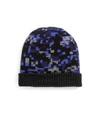 Saks Fifth Avenue - Black Geometric Print Hat for Men - Lyst