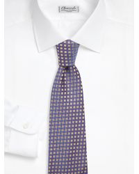 Charvet - Purple Square Pattern Silk Tie for Men - Lyst