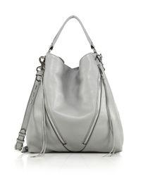 Rebecca Minkoff - Gray Moto Leather Hobo Bag - Lyst