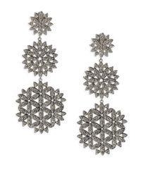 Adriana Orsini - Metallic Anise Long Crystal Drop Earrings - Lyst