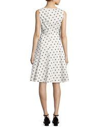L.K.Bennett - White Octavia Stretch-cotton Sateen Dress - Lyst