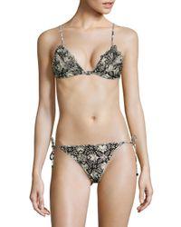 Zimmermann - Multicolor Divinity Ruffled Two-piece Triangle Bikini - Lyst