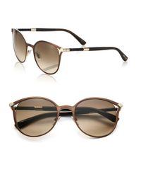Jimmy Choo Brown Neiza 54mm Round Sunglasses
