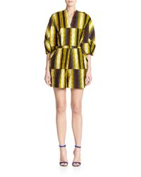 Stella Jean | Yellow Marzaiola Striped Short Jumpsuit | Lyst