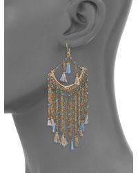 Rosantica - Metallic Risveglio Multicolor Quartz Tassel Earrings - Lyst