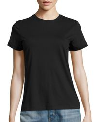 Vince | Black Pima Cotton Boy Tee | Lyst
