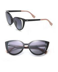 Fendi - Black Women's Cat's-eye 51mm Sunglasses - Havana - Lyst
