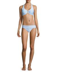 Heidi Klein - Blue Foldover Bikini Bottom - Lyst