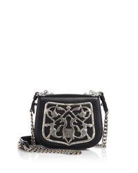 Prada - Black Bandoliera Leather Crossbody Bag - Lyst