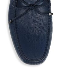Tod's - Blue Gommini Leather Loafers for Men - Lyst