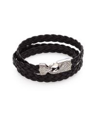 Stephen Webster - Brown Braided Leather Bracelet for Men - Lyst