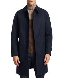 Saks Fifth Avenue - Blue Collection Wool-blend Overcoat for Men - Lyst