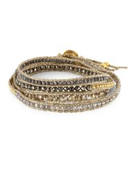 Chan Luu - Metallic Swarovski Crystals & Sterling Silver Mix Bracelet - Lyst