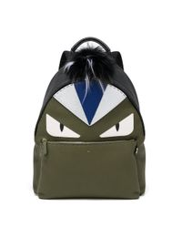 Fendi - Green Monster Eye Leather Backpack - Lyst