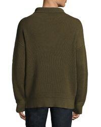 Rag & Bone - Green Andrew Funnel-neck Sweater for Men - Lyst