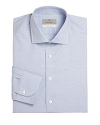 Canali - Blue Slim-fit Dress Shirt for Men - Lyst