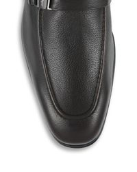 Ferragamo - Black Pinot Leather Loafers for Men - Lyst