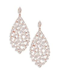 Adriana Orsini - Metallic Caspian Crystal Drop Earrings - Lyst