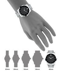 Movado - Metallic Museum Classic Stainless Steel Diamond Bracelet Watch for Men - Lyst
