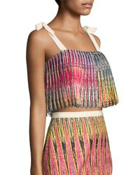 Saloni - Multicolor Jemi Pleated Top - Lyst