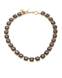 Tory Burch - Metallic Crystal Stone Short Necklace - Lyst